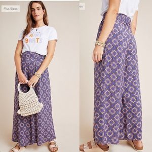 Anthropologie Maeve Terrance floral pants